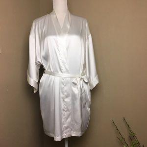 Victoria Secret Bride White Satin Robe